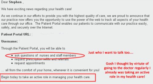 Patient Portal email
